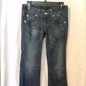 Low rise wide leg True Religion jeans